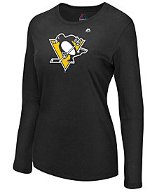 Majestic Women's Pittsburgh Penguins Primary Logo Long Sleeve T-Shirt