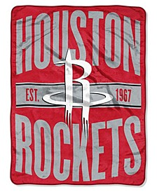 Houston Rockets Micro Raschel Clear Out Throw Blanket