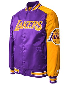 G-III Sports Men's Los Angeles Lakers Starter Dugout Playoffs Satin Jacket