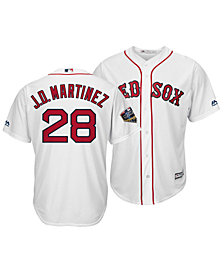 Majestic Men's J.D. Martinez Boston Red Sox 2018 World Series Patch Player Cool Base Jersey