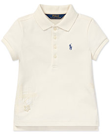 Polo Ralph Lauren Toddler Girls Flag Graphic Polo