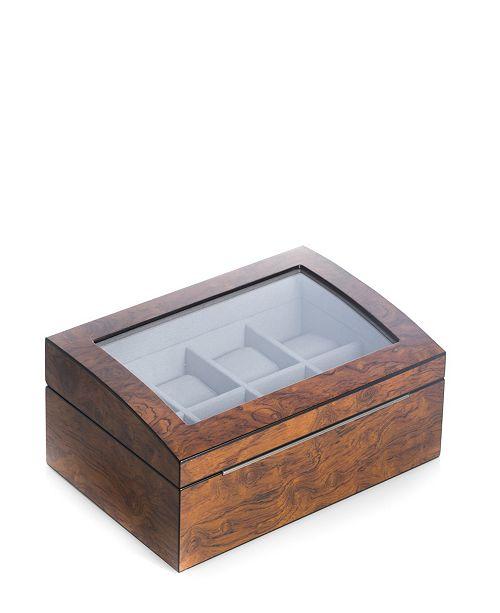 Bey-Berk Burl Watch Box