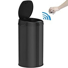 8 Gallon Round Sensor Trash Can with Deodorizer, Matte Black