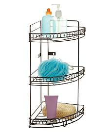 Bath Bliss 3 Tier Corner Bath Shelf in Curls Design