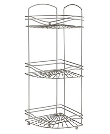 Ocean Wave Design 3 Tier Corner Bath Shelf