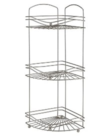 Bath Bliss Ocean Wave Design 3 Tier Corner Bath Shelf