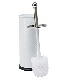 Swirled Texture Toilet Brush & Holder