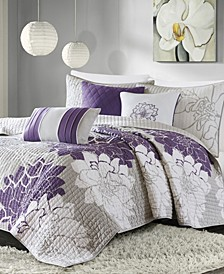 Lola 6-Pc. Full/Queen Coverlet Set