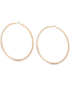 GUESS Pavé Large Hoop Earrings