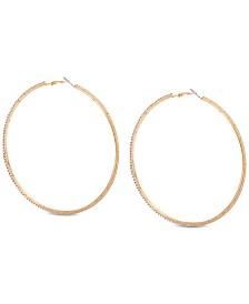 GUESS Pavé Large Hoop Earrings