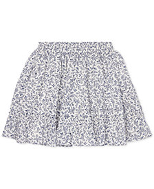 Polo Ralph Lauren Toddler Girls Floral-Print Cotton Skirt