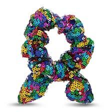 Sequin Bow Hair Scrunchie