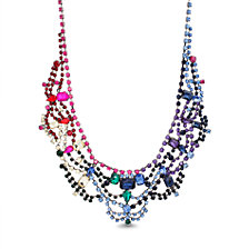 Steve Madden Rainbow Casted Stone Bib Necklace