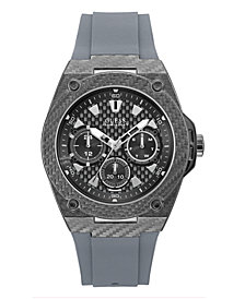 Guess Men's Gray Silicone Watch 45MM, Created for Macy's