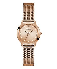 Women's Rose Gold Diamond Mesh watch 25MM, Created for Macy's