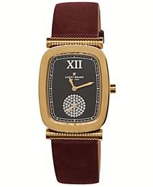 Women's Laurel Berry Leather Watch 27.5mm