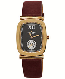 Lucky Brand Women's Laurel Berry Leather Watch 27.5mm