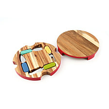 Fiesta 6-Piece Round Cheese Board with Tools