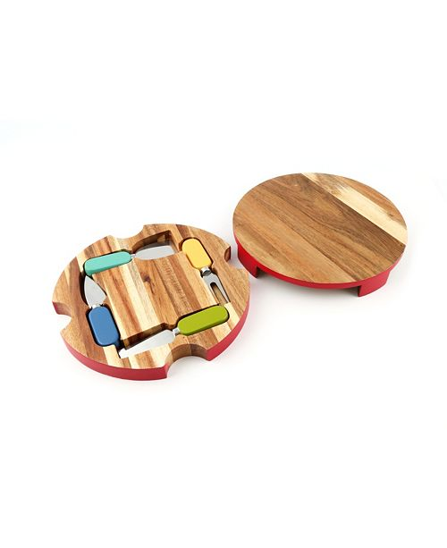 Cambridge Fiesta 6-Piece Round Cheese Board with Tools