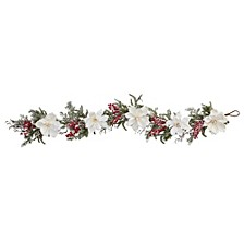 """60"""" Frosted Magnolia & Berry Artificial Garland"""