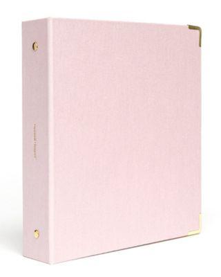 Mini Peony Bookcloth 3 Ring Binder