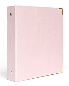 Mini Peony Bookcloth 3 Ring Binder