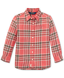 Polo Ralph Lauren Little Girls Plaid Cotton Tunic Shirt