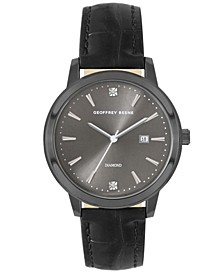 Black Chroco Strap Genuine Diamond Sail Watch
