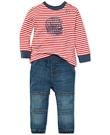 Polo Ralph Lauren Baby Boys Striped T-Shirt & Jeans Set