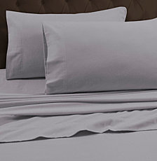 Tribeca Living 170-GSM Heavyweight Solid Flannel Queen Flat Sheet