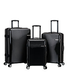Rockland Horizon 3-Piece Polycarbonate Spinner Luggage Set