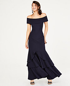 Vince Camuto Off-The-Shoulder Mermaid Gown