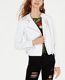 GUESS Romana Faux-Leather Moto Jacket