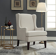 Clayton Wing Back Accent Arm Chair, Quick Ship