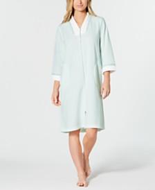 36c1c85846 Miss Elaine Petite Velvet Fleece Long Zipper Robe   Reviews - Bras ...