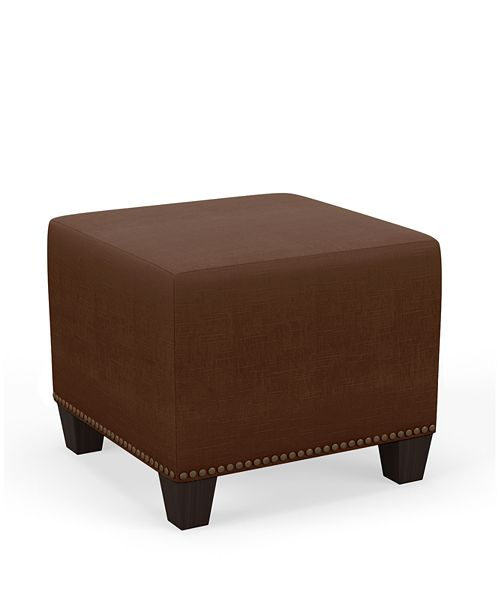 Martha Stewart Collection Skylands Collection Mona Square Ottoman, Quick Ship, Created for Macy's