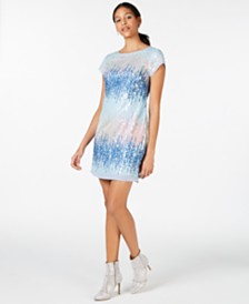 Vince Camuto Multicolored Sequin Sheath Dress