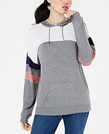 Hippie Rose Juniors' Colorblocked Pullover Hoodie
