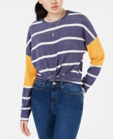 Self Esteem Juniors' Striped Colorblocked Top