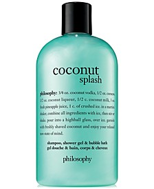 Coconut Splash Shampoo, Shower Gel & Bubble Bath, 16-oz.