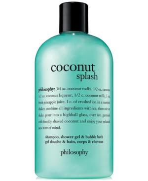 philosophy Coconut Splash Shampoo, Shower Gel & Bubble Bath, 16-oz.