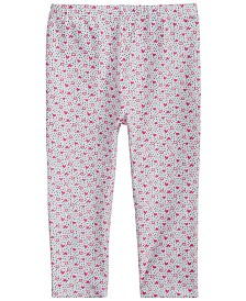 First Impressions Baby Girls Heart-Print Leggings, Created for Macy's