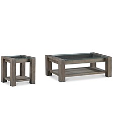 CLOSEOUT! Sava Table 2-Pc. Set (Coffee Table & End Table), Created for Macy's