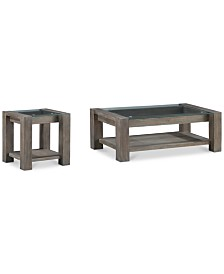 Sava Table Furniture, 2-Pc. Set (Coffee Table & End Table), Created for Macy's
