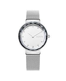 RumbaTime Santa Monica Silver Mesh Women's Watch