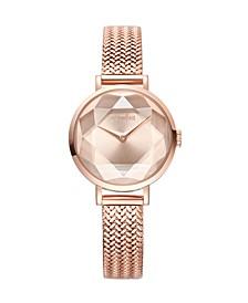 Hudson Weave Gem Women's Rose Gold Watch