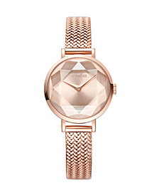 RumbaTime Hudson Weave Gem Women's Rose Gold Watch