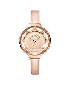 RumbaTime Orchard Gem Blush Diamond Patent Leather Women's Watch