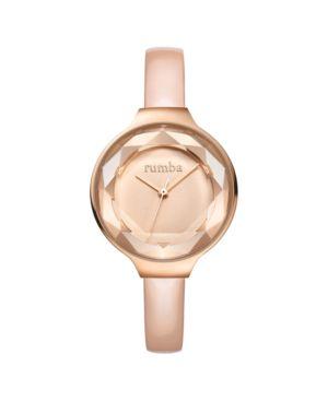 RUMBATIME Rumbatime Orchard Gem Blush Diamond Patent Leather Women'S Watch