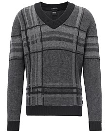 BOSS Men's V-Neck Knit Sweater